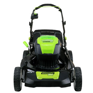 Greenworks PRO 21-Inch 80V Cordless Lawn Mower Two 2.0AH Batteries Included