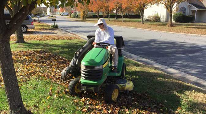 late august lawn mowing